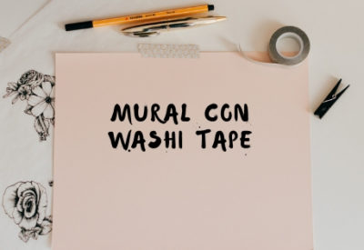 Mural con washi tape