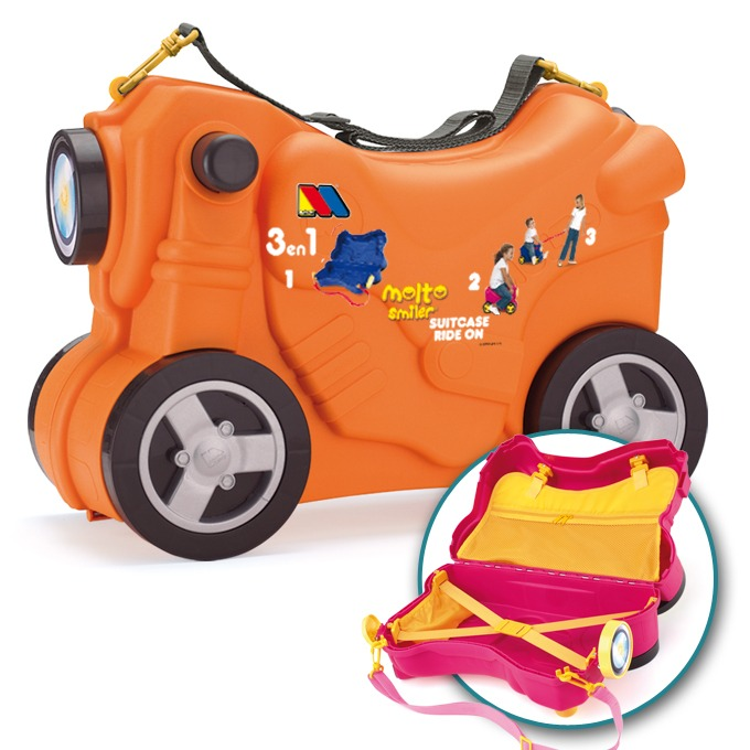 985903abf Moltó Smiler Moto maleta deluxe-Naranja   Juguetes Molto