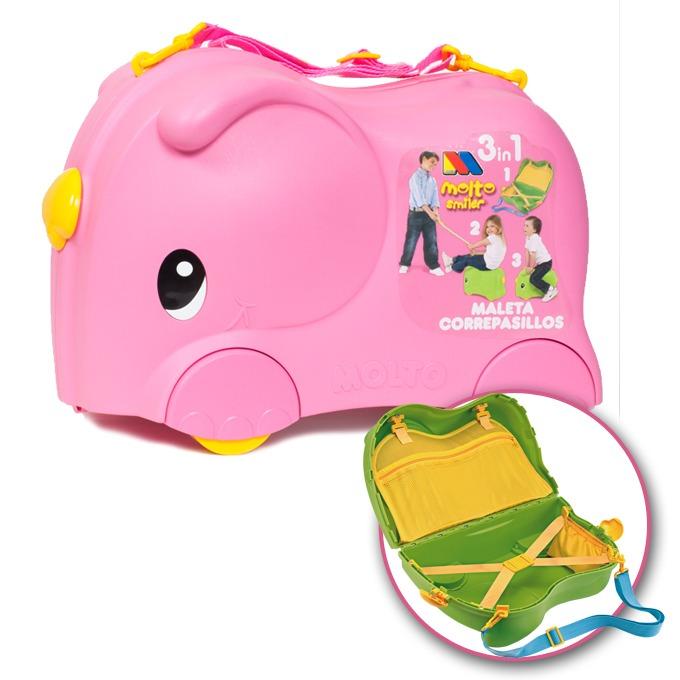 602e87a4f Moltó Smiler Moto maleta deluxe-Rosa | Juguetes Molto
