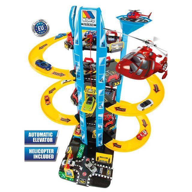 Parking Infantil de 5 Plantas + Helicóptero (Moltó)