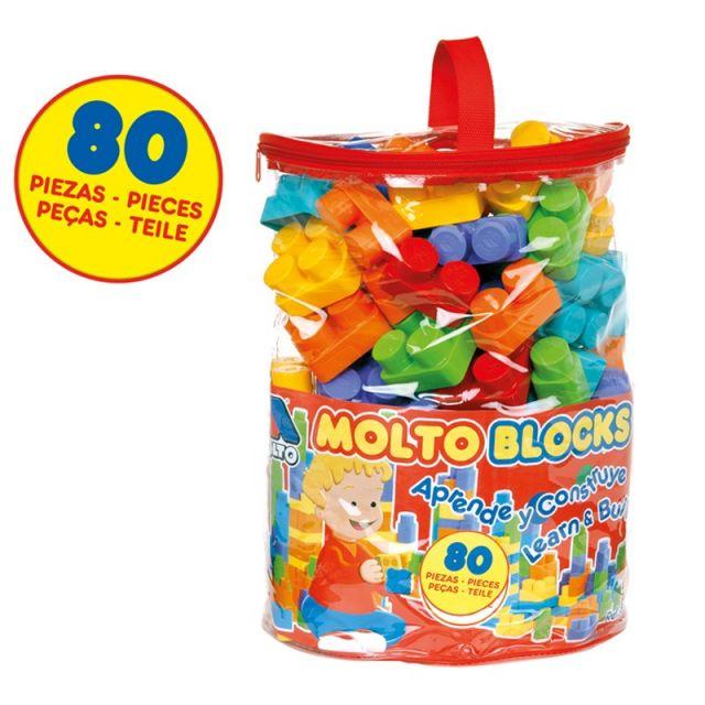 Bolsa de bloques Molto 80 piezas