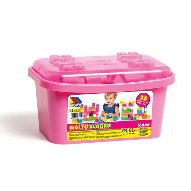 Caja de Bloques 35 piezas Rosa
