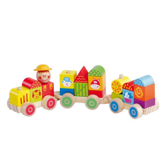 Tren de juguete de madera Happy Train Molto