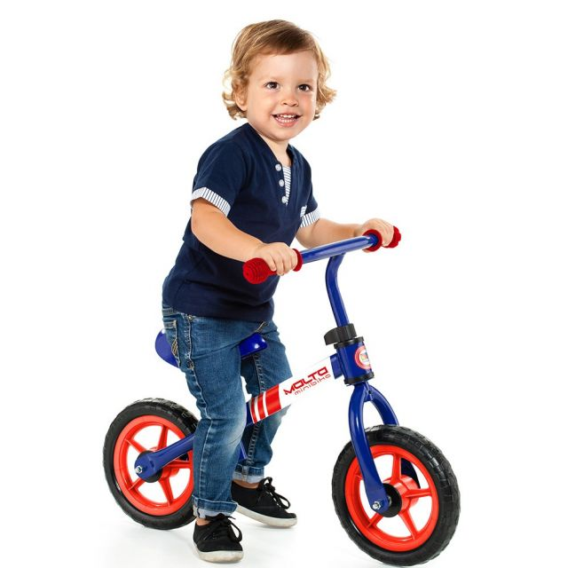 Bicicleta sin pedales infantil Minibike Azul Molto