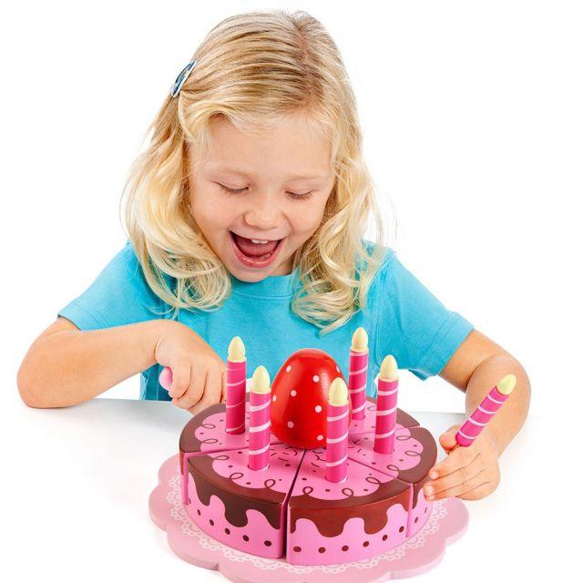 Tarta de Cumpleaños de juguete de madera Party Cake Molto