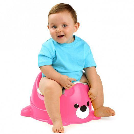 Orinal infantil de color rosa