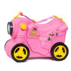 Molto Smiler Motorrad Kinderkoffer-Pink