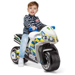 Molto Motor cross ride-on white police bike