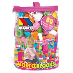 Pink Blocks Bag 80 pcs.