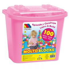 Pink Blocks 100 pcs Cube