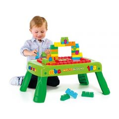Table building blocks for children.