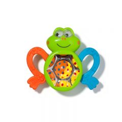 Toy to stimulate the baby's senses. Froggie design.