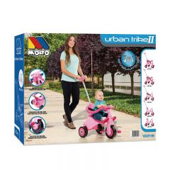 Tricycle pour enfants Molto Urban Trike II City Rose 5 en 1