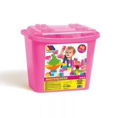 Caja de bloques rosa 90 pzs Moltoshop