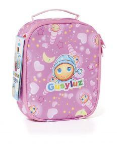Bolsa porta alimentos rosa con diseño Gusy Luz
