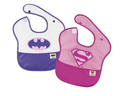 Pack 2 Baberos Supergirl y Batgirl - Liga de la Justicia