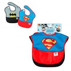 Pack 2 Baberos Superman y Batman - Liga de la Justicia
