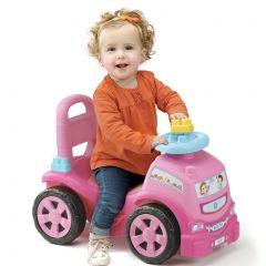 Correpasillos Camión 3 x 1 rosa con 10 bloques