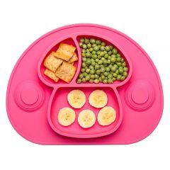 Plato de silicona para bebé - Rosa