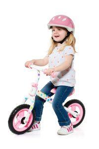 Bicicleta sin pedales Mini Bike Rosa Moltoshop con casco incluído.