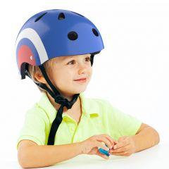 Casco infantil para niños azul Circle