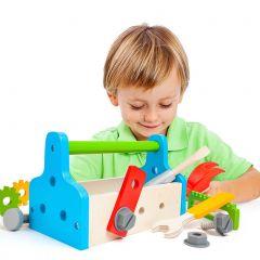 Caja de Herramientas de juguete de madera Molto Tool Box