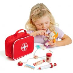 Molto Doctor Set, doctor's bag with wooden accessories