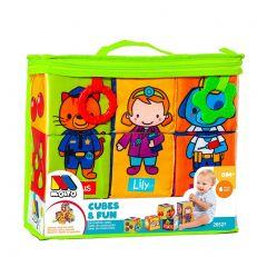 Bloques blandos tela Cubes & Fun Moltó