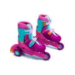 Patines en línea para niños 3 in line Skates Rosa