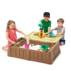 Banco de juego con arena y agua Moltó