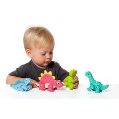 Dinosaurios de juguete de madera Molto