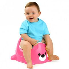 Pink potty chair for children