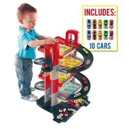 Parking de juguete 5 Plantas + 10 coches