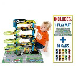 Parking Infantil Molto 4 Plantas + 10 Coches + Tapiz de Juego