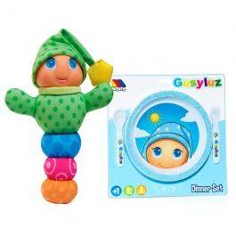 Gusy Luz® Rosa + Vajilla infantil Ed. Azul