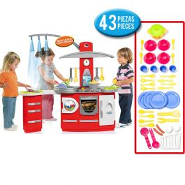 Molto Kitchen Electronic Deluxe + Cooking Play Set